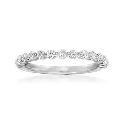 Henri Daussi .50 ct. t.w. Diamond Wedding Ring in 18kt White Gold