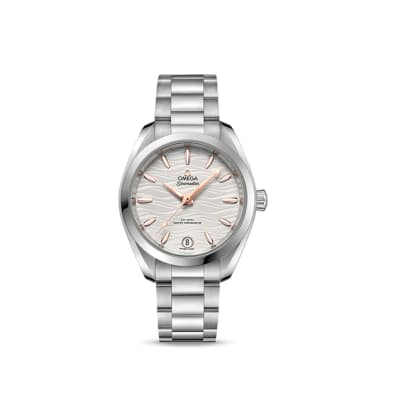 Omega Seamaster Aqua Terra Women's 34mm Automatic Sterling Silver Watch with Silver Dial