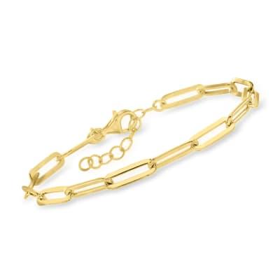 Charles Garnier 18kt Gold Over Sterling Paper Clip Link Bracelet