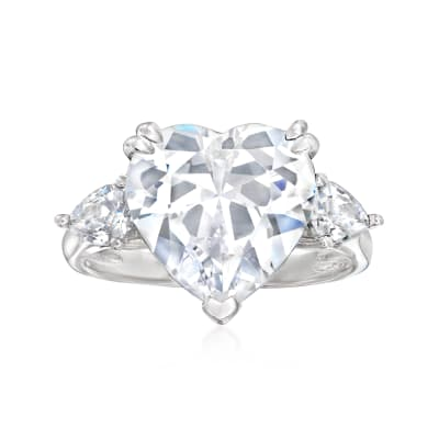 8.00 ct. t.w. CZ Ring in Sterling Silver