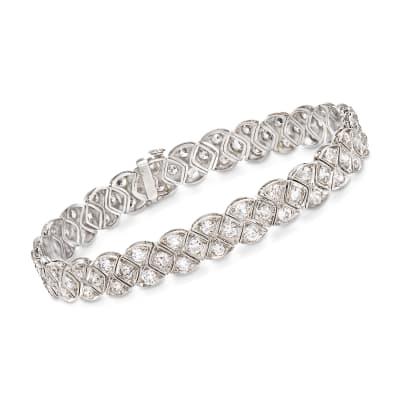 C. 1950 Vintage 5.75 ct. t.w. Diamond Bracelet in Platinum