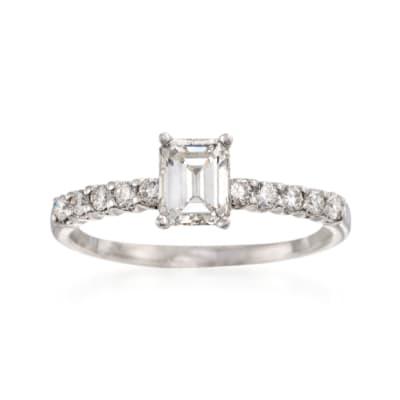 1.01 ct. t.w. Diamond Engagement Ring in 18kt White Gold