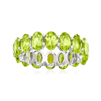 6.90 ct. t.w. Peridot Eternity Band in Sterling Silver