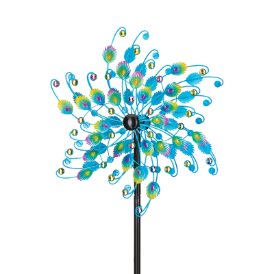 "Regal ""Peacock"" Outdoor Decorative Garden Wind Spinner"