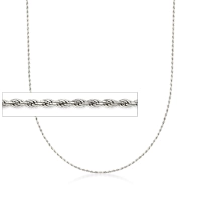Italian 1.5mm Sterling Silver Adjustable Slider Rope Chain Necklace