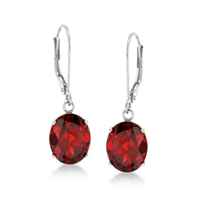 5.50 ct. t.w. Garnet Drop Earrings in 14kt White Gold