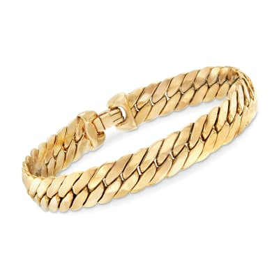 Italian 14kt Yellow Gold Cuban-Link Bracelet