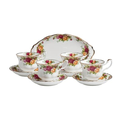 "Royal Albert ""Old Country Roses"" 9-pc. Tea Set"