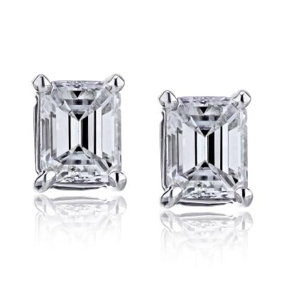 1.90 ct. t.w. Diamond Stud Earrings in 14kt White Gold