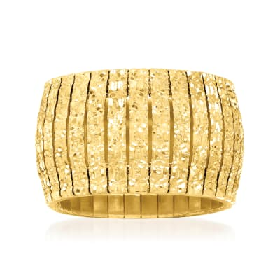 Italian 18kt Yellow Gold Over Sterling Silver Cleopatra Ring