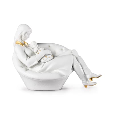 "Lladro ""Feels Like Heaven"" Mother and Child Porcelain Figurine"