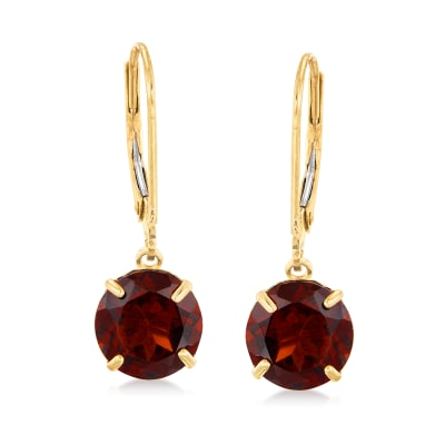 4.50 ct. t.w. Garnet Drop Earrings in 14kt Yellow Gold