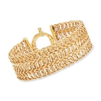 14kt Yellow Gold Wide Multi-Link Bracelet