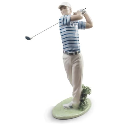 "Lladro ""Golf Champion"" Figurine"