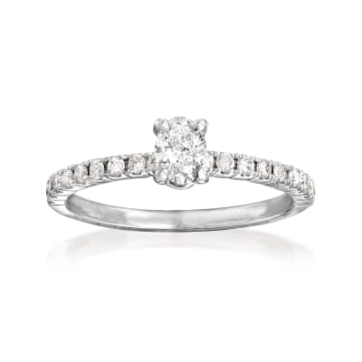 .54 ct. t.w. Diamond Engagement Ring in 14kt White Gold