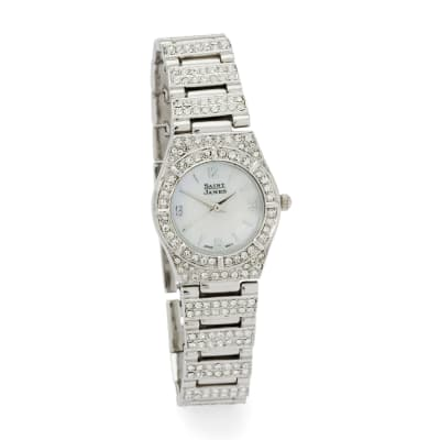 Saint James Women's 25mm Crystal and Mother-Of-Pearl Watch in Stainless Steel