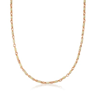 C. 1980 Vintage Spring-Link Necklace in 18kt Two-Tone Gold