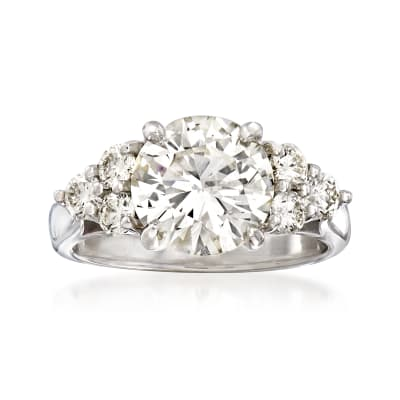 Majestic Collection 3.63 ct. t.w. Diamond Ring in 18kt White Gold