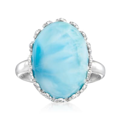 Larimar Ring in Sterling Silver