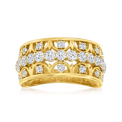 1.25 ct. t.w. Diamond Openwork Ring in 14kt Yellow Gold
