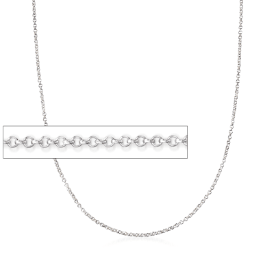 Italian Sterling Silver Rolo Chain Necklace