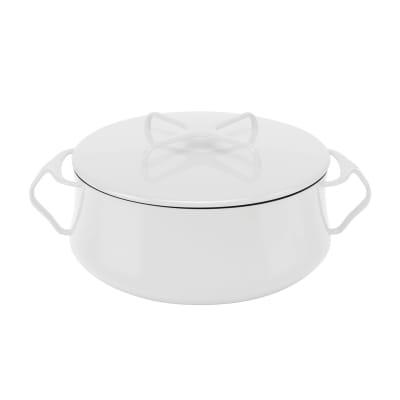 "Dansk ""Kobenstyle"" White Casserole Pot with Lid"