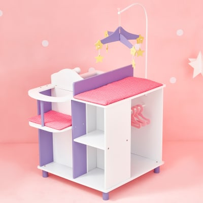 """Child's """"Little Princess"""" Baby Doll Changing Station with Storage"""
