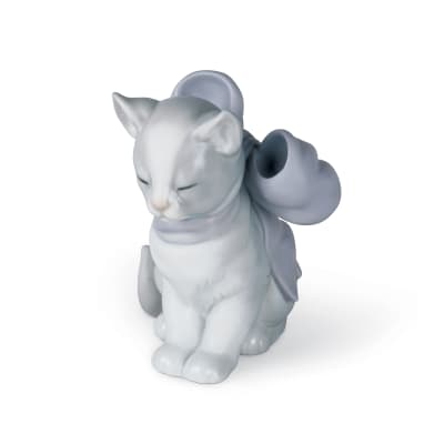 "Nao ""Kitty Present"" Porcelain Figurine"