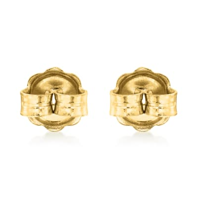 Italian 14kt Yellow Gold Large 7mm Earring Backings