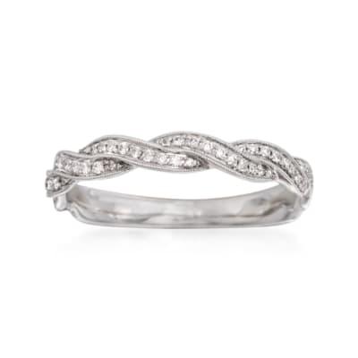 .24 ct. t.w. Diamond Wedding Band in 18kt White Gold