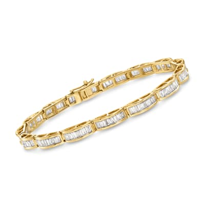 3.00 ct. t.w. Baguette Diamond Bracelet in 14kt Yellow Gold