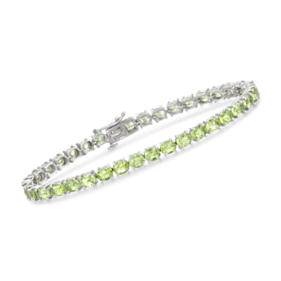 12.00 ct. t.w. Peridot Tennis Bracelet in Sterling Silver