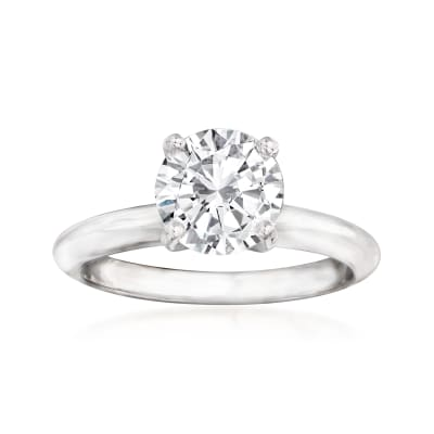 1.35 Carat Diamond Solitaire Ring in 14kt White Gold