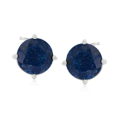 4.00 ct. t.w. Sapphire Stud Earrings in Sterling Silver