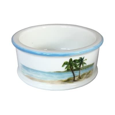 "Abbiamo Tutto ""Palm Breezes"" Ceramic Pet Bowl from Italy"