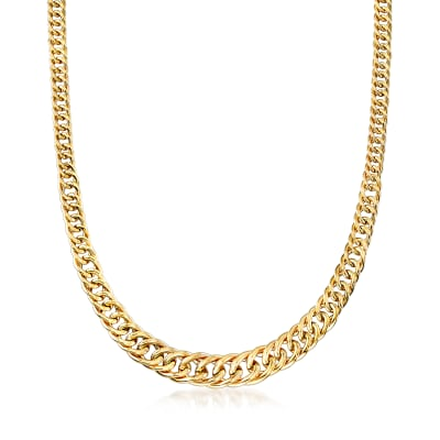 Italian 14kt Yellow Gold Link Necklace