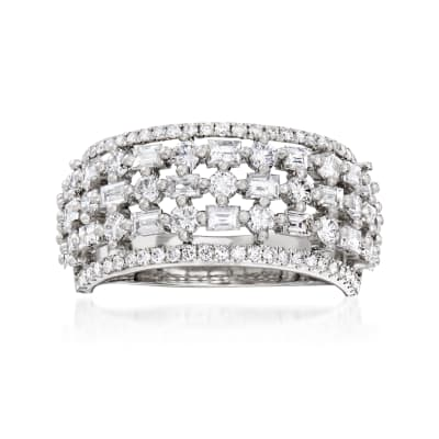 1.73 ct. t.w. Diamond Open-Space Ring in 18kt White Gold