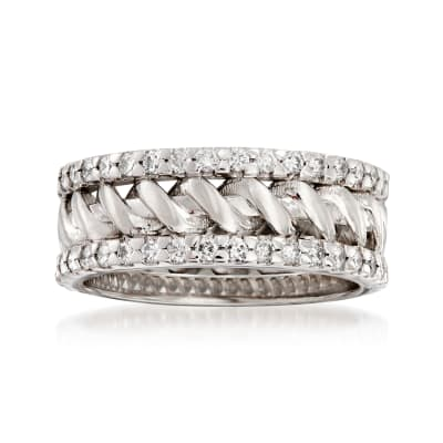 1.08 ct. t.w. Diamond Wedding Band in 14kt White Gold