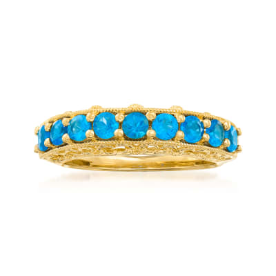 .90 ct. t.w. Apatite Ring in 18kt Gold Over Sterling