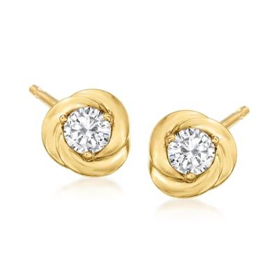 .40 ct. t.w. Diamond Earrings in 18kt Gold Over Sterling