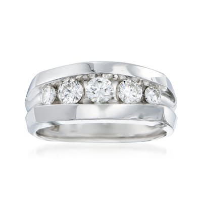 Men's 1.00 ct. t.w. Diamond Wedding Ring in 14kt White Gold