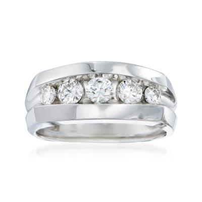 Men's 1.00 ct. t.w. Diamond Wedding Ring in 14kt White Gold