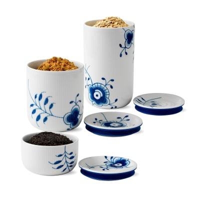 """Royal Copenhagen """"Blue Fluted Mega"""" Porcelain Storage Jar"""