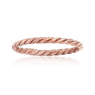 18kt Rose Gold Rope Ring