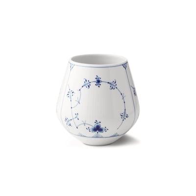 "Royal Copenhagen ""Blue Fluted Plain"" Medium Porcelain Vase"