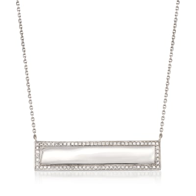 .66 ct. t.w. Diamond Bar Necklace in 14kt White Gold