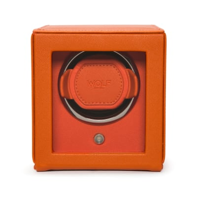 "Wolf ""Cub"" Orange Leather Watch Winder"