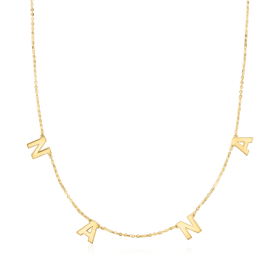 """14kt Yellow Gold """"Nana"""" Charm Necklace"""