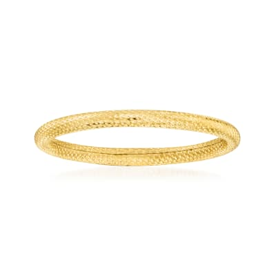 18kt Yellow Gold Textured Ring