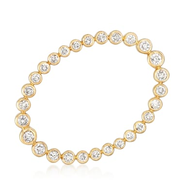1.00 ct. t.w. Bezel-Set Diamond Pin in 14kt Yellow Gold